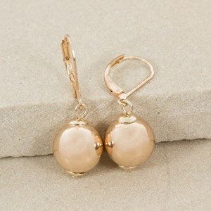 12mm Polished Ball French Hook Earring