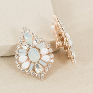 Jewelled Almond Clip On Earring