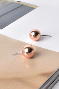 10mm Metal Ball Stud Earring