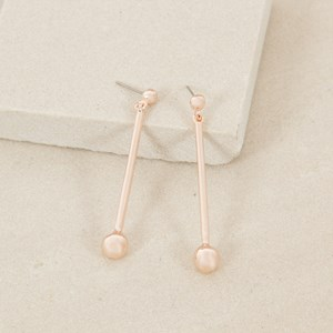 Metal Ball & Rod Drop Stud Earring
