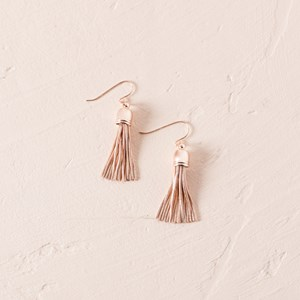 Mini Capped Metal Tassel Hook Earring