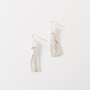 Mini Capped Metal Tassel Hook Earring