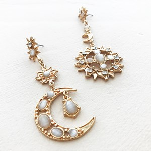 The Moon & All The Stars Drop Earrings
