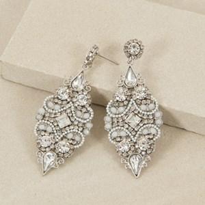 Jewelled Almond Drop Earring