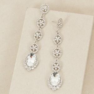 Diamante & Jewel Fine Long Drop Earring