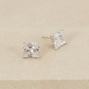 Clawed Square Jewel Stud Earring