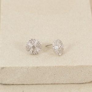 CZ Fine Diamante Button Stud Earring
