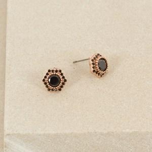 CZ Mini Hexagon Stud Earring