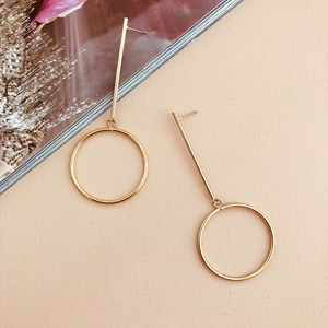 Metal Bar Drop XL Ring Earring