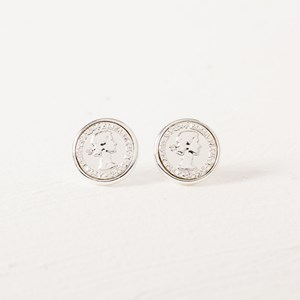Coin Stud Earring