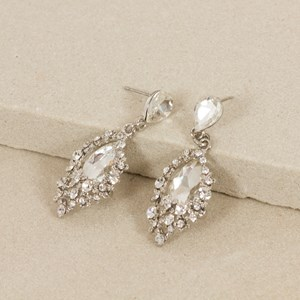 Daisy & Jewel Teardrop Mini Drop Earring