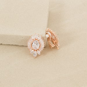 3cm Deco Baguette Clip On Earrings