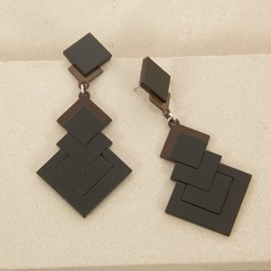 7.5cm Arrow Squares Resin Earring