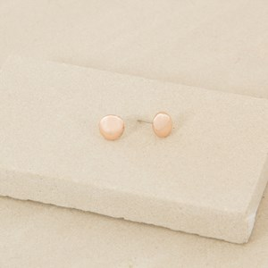 8ml Metal Button Earrings