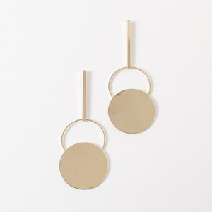 9cm Rod and Flat Circle Earring