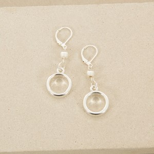 Ball and Ring French Hook Earring