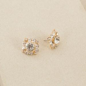 Diamond Jewel Flower Earring