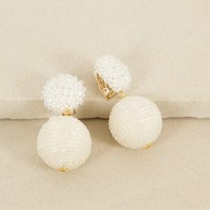 Fine Bead Ball with Crochet Crystal Earring