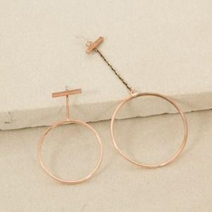 Pair unmatched Rings Earrings