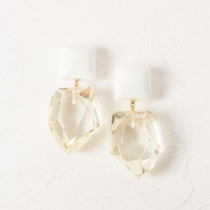 Resin Facet Drop Earring Smooth