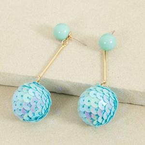 Disco Ball Drop Stud Earring