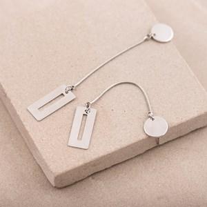 Rectangle Bar Drop Stud Earring