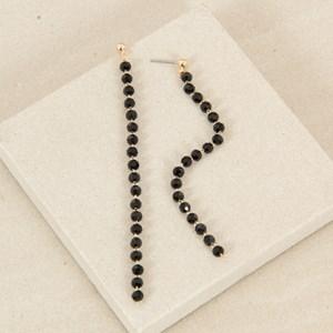 Hand Link Long Bead Drop Earrings