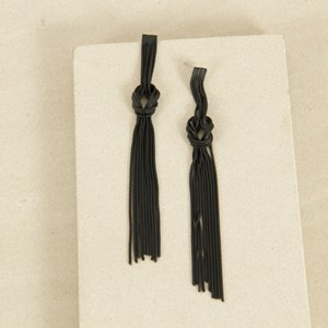 Knot Centre Tassels Earrings