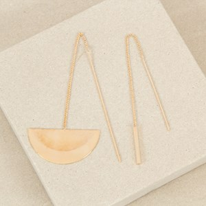 Cresent Thread Mismatch Earrings