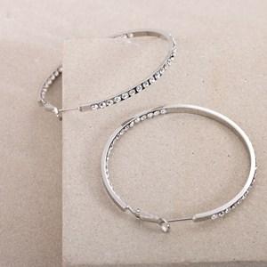 Diamante Medium Hoop Earrings