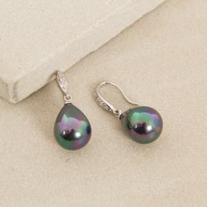Diamante Hook Egg Drop Earrings