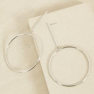 XL Ring Drop Stud Earrings