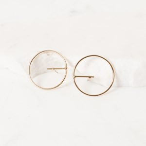 Fine Ring with Bar Earrings