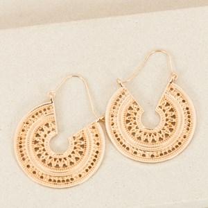 Clip Down Dot Wheel Earrings