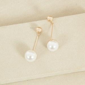 Bauble Drop Rod Stud Earrings
