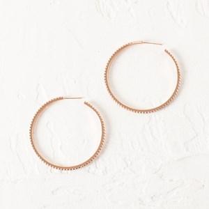 Large Diamante Hoop Earrings