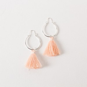 Mini Hoop with Fringe End Earrings