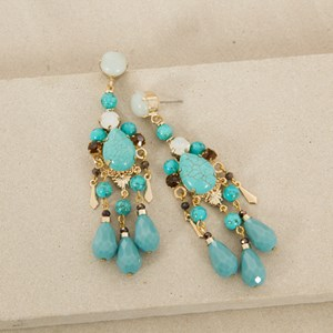 Jewelled Teardrop Earrings