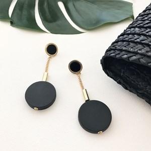 Timber Circle Chain Drop Earrings