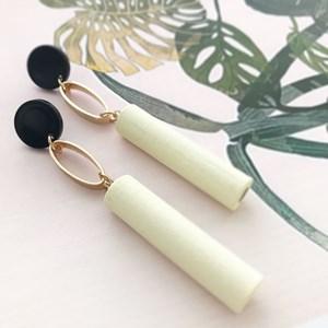 Timber Rod Metal Loop Earrings