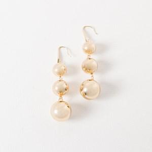 Three Ball Drop Hook Earrings