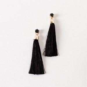 Small Jewel & Tassel Earrings