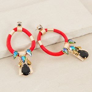 Rope & Jewel Earrings