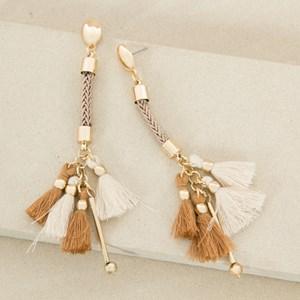 Multi Tassel & Rope Drop Earrings