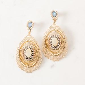 Delicate Cutout Metal Jewel Earrings