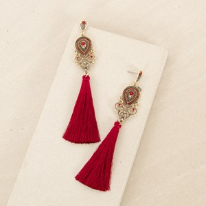 Ornate Tassel Earring