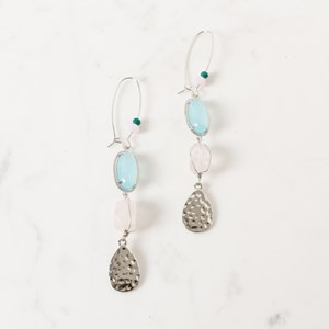 Natural Stone & Crystal Wired Earrings