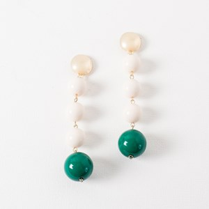 Resin Four Ball Drop Earrings
