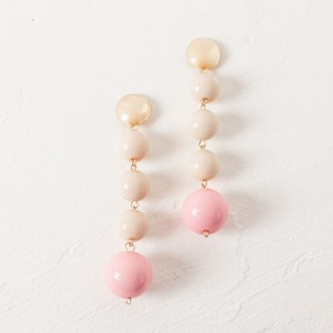 Resin Four Ball Drop Earrings