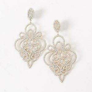 Medium Diamante Filigree Earrings